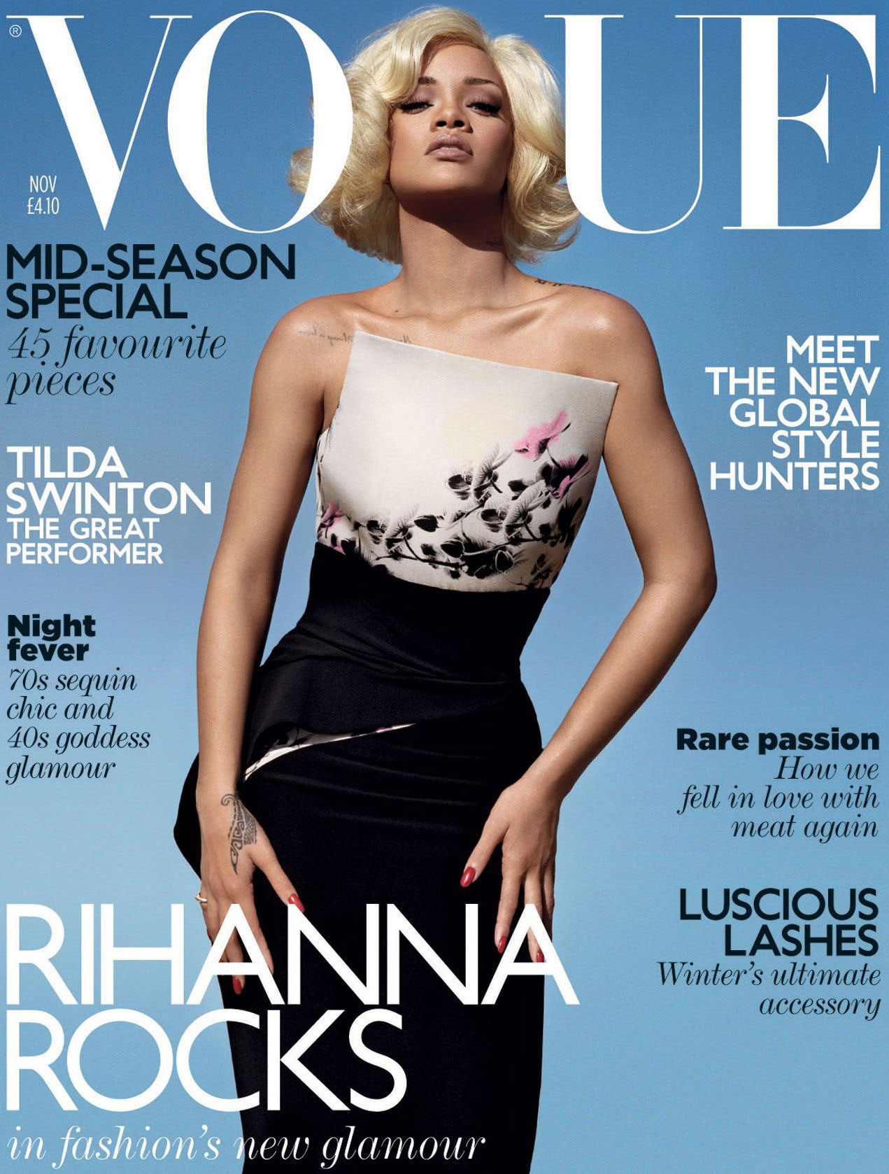 Rihanna Looking Pale On The Cover Of Vogue UK