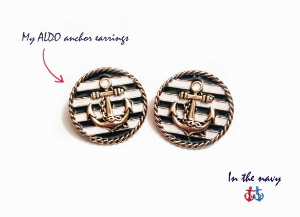 In the navy - Aldo earrings