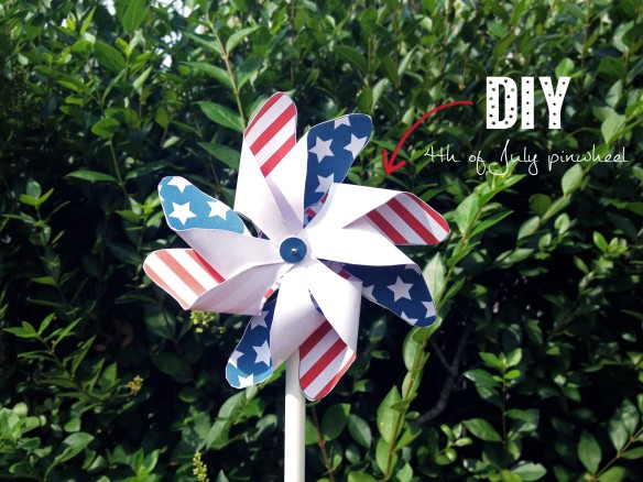 DIY-4TH OF JULY PINWHEEL