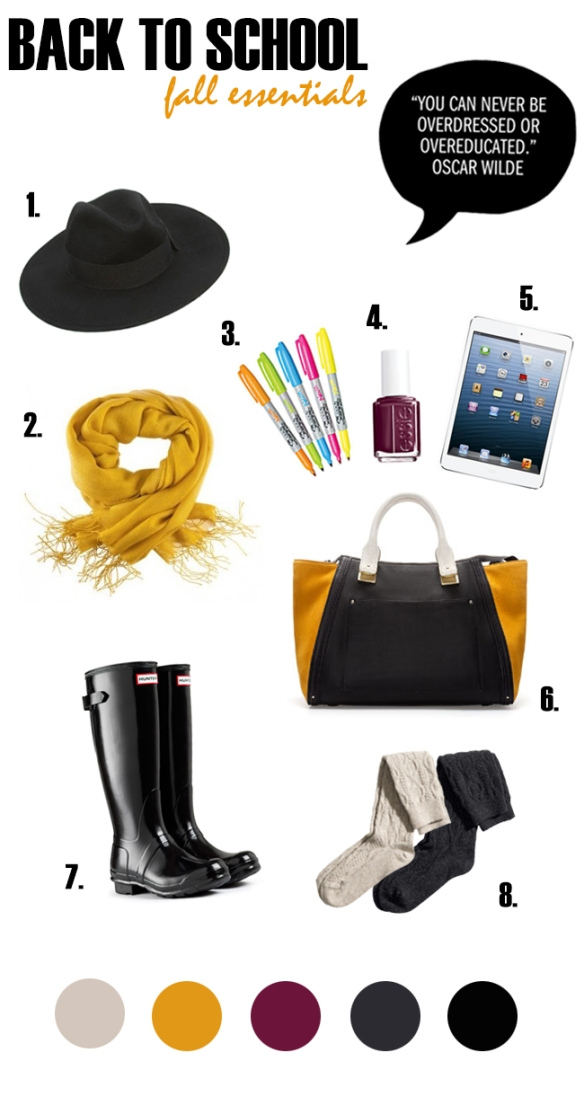Back To School - Fall Essentials