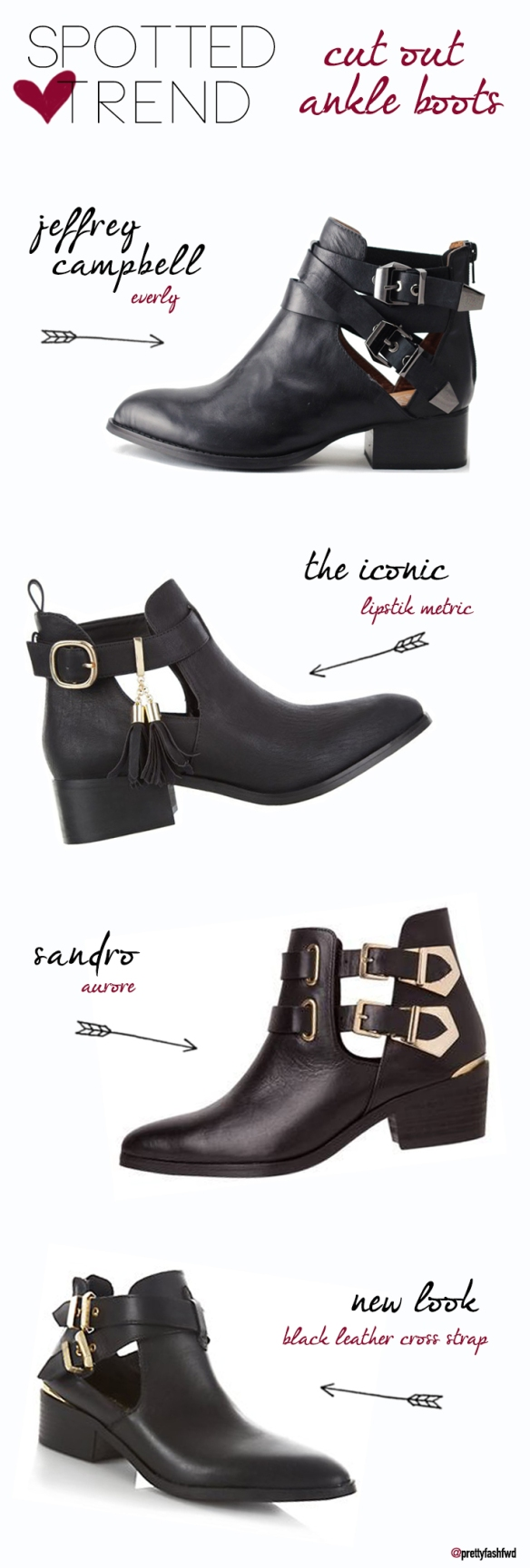 [Spotted Trend] - Cut-Out Ankle Boots
